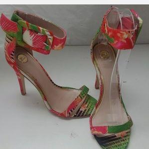 HOST PICK ZU Gala open toe, tropical heels  Size 6